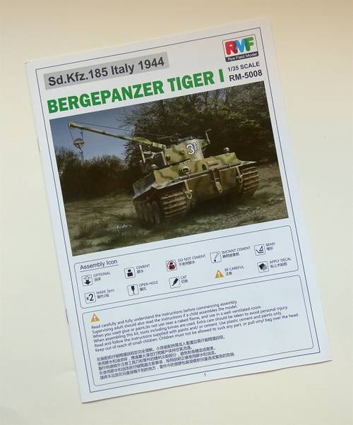 E1B7x 1:35 Bergepanzer Tiger I von Rye Field Model RM-5008.
