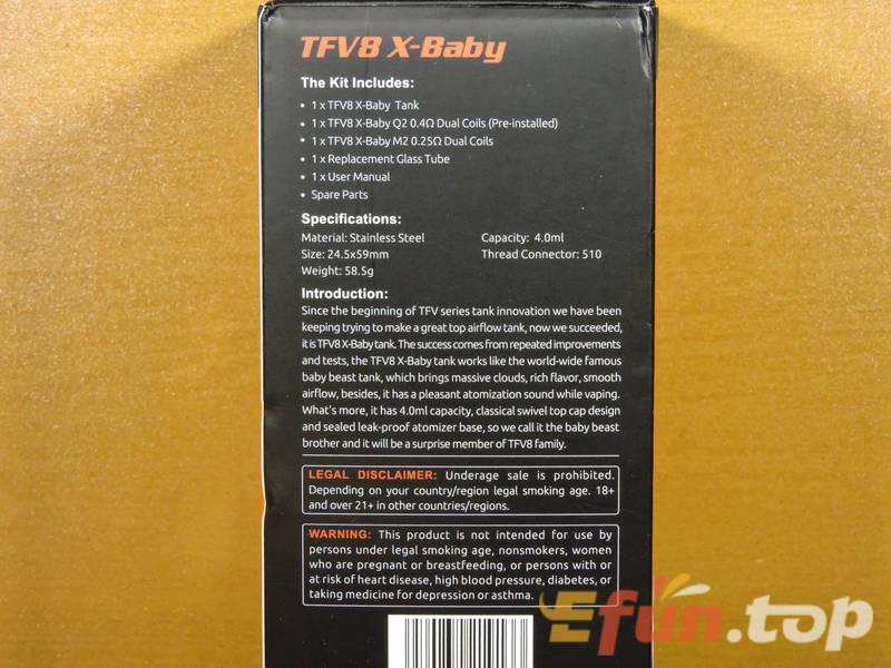 SMOK TFV8 X-Baby Beast RTA - верхнеобдувный зверюга 686